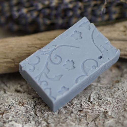 Lavendel-Rechteck mit gestempeltem Ornament