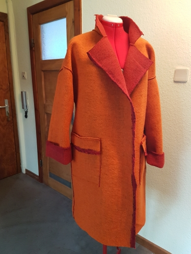 Wendemantel in  Orange-Rot