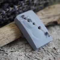 Lavendel-Rechteck mit Lavendelblüten